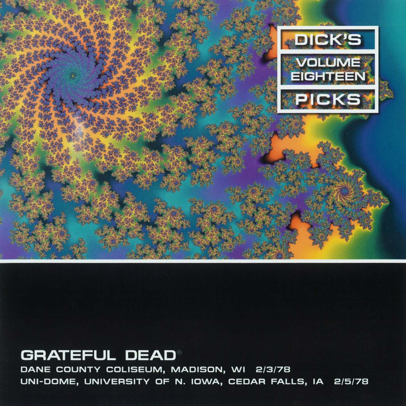 Grateful Dead Dick's Picks 18 album cover artwork