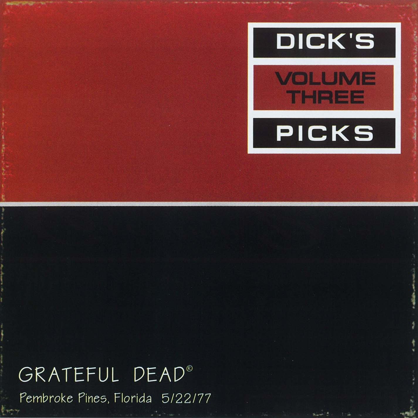 Grateful Dead Dick's Picks 3 album cover artwork
